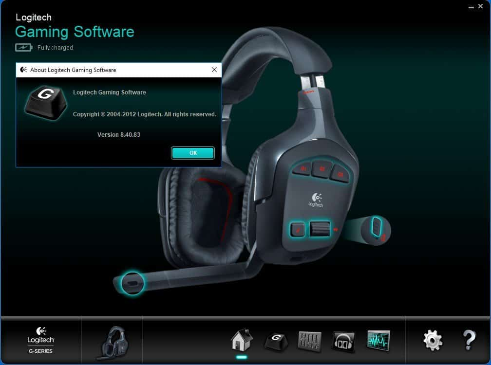 logitech gaming software headset