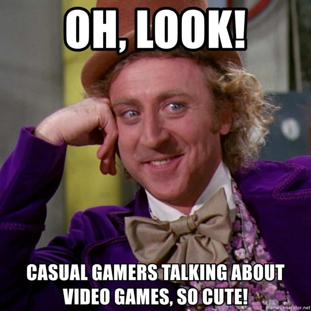 casual gamers meme