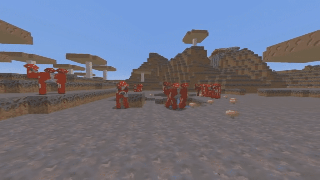 Hostile mobs do not spawn in mushroom biomes