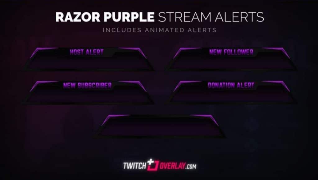 Razor Purple by Twitch Overlay