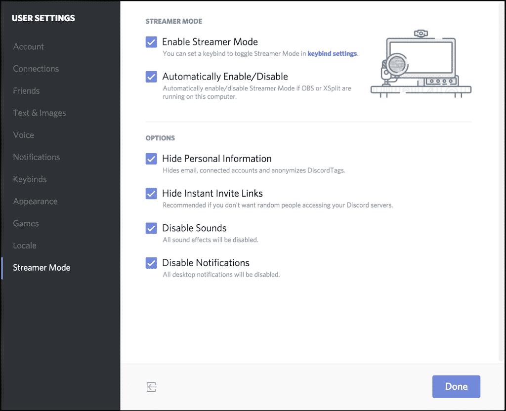 Streamer Mode in Discord