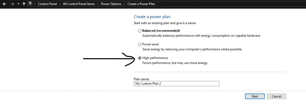 Create a power plan