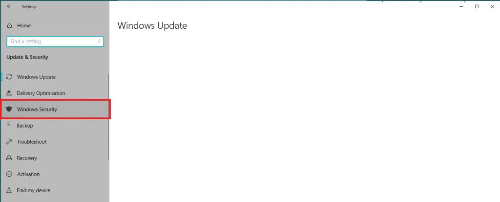 Select Windows Security