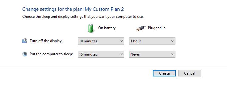 customize Power Plan