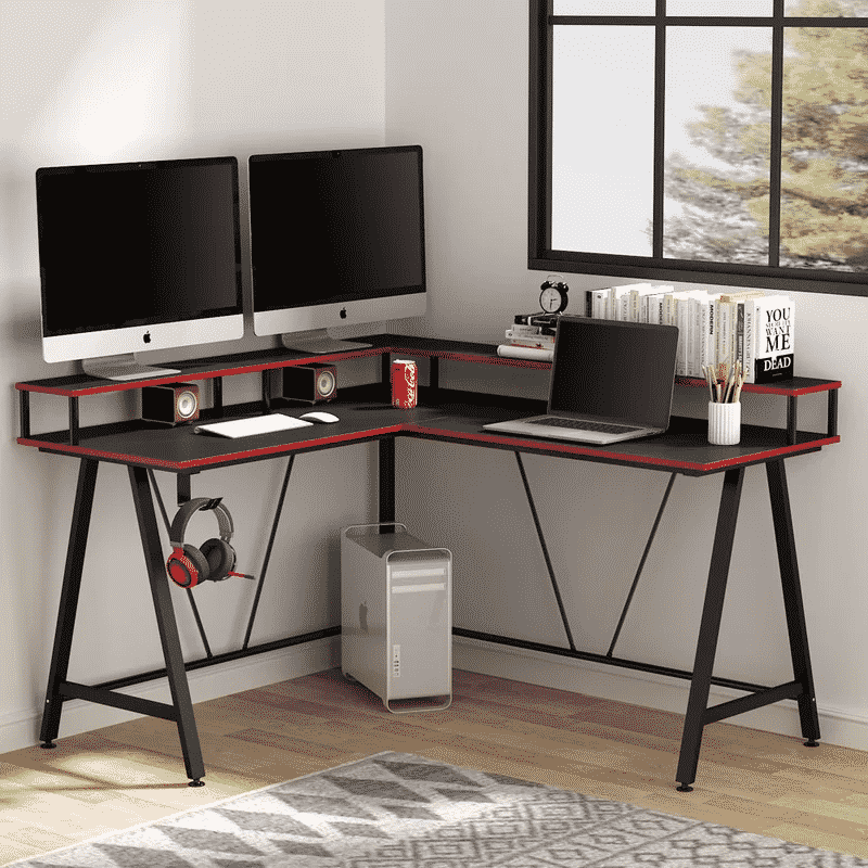 Inbox Zero Multi-Tier Gaming Desk