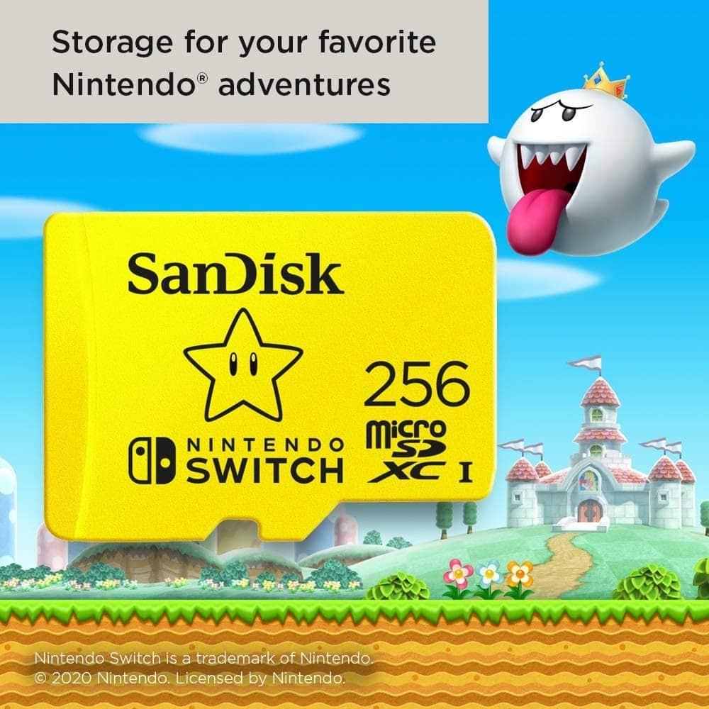 SanDisk 256GB MicroSD Card for Nintendo Switch