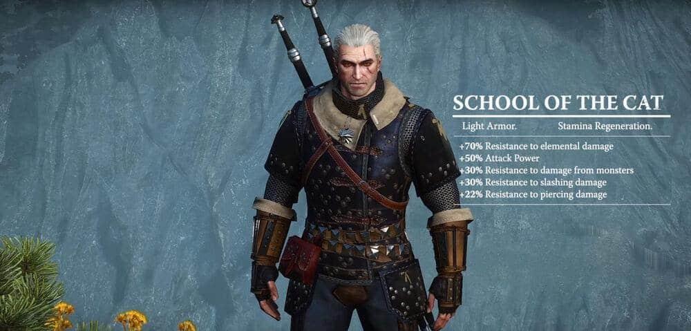 Witcher 3 Feline Armor